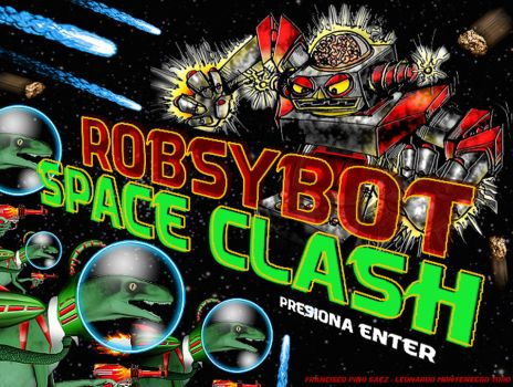 GUI in Shoot em Up RobSYBot Space Clash by Evilspout