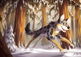 Frozen Pines by Skailla