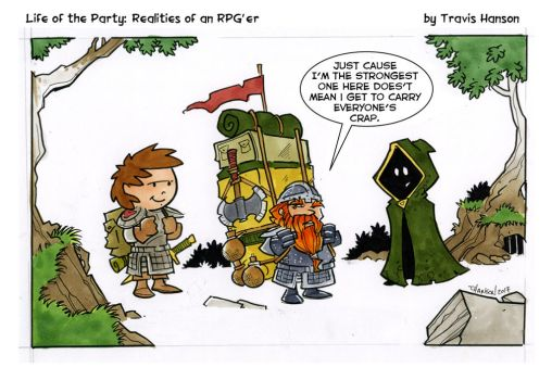 The strength of Dwarves - RPG Comic by travisJhanson