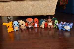 I stress crocheted a lot of Pokemon! :P