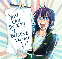 Yatogami YOU CAN DO IT by TaffyDesu