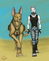 Jenny and Sandstorm by BullTerrierKa
