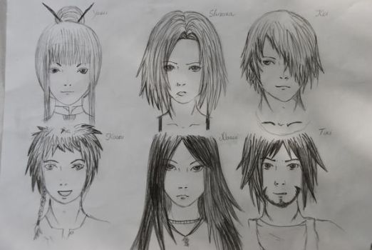 Some of my characters by MasumiUchiha