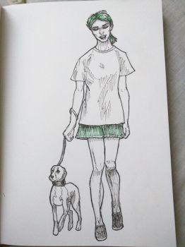 Girl with dog by saysoifyouwantto