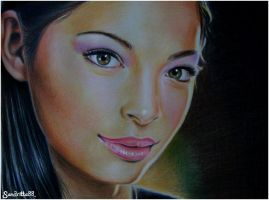Kristin Kreuk colour pencils by sandritta88