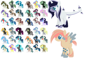 MLP 5 point pony adopts [OPEN] by CookieAndCreamAdopts