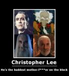Christopher Lee Demotivational by will-o-the-wispy