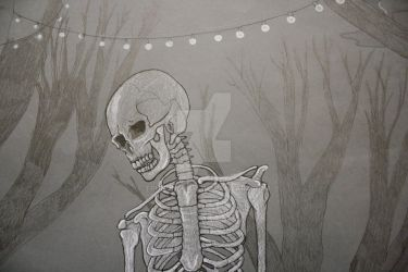 The skeleton waiter...close by truncheonm