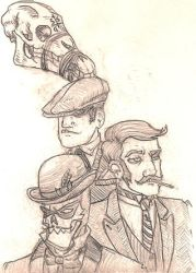 GREEN GHOST SKETCHES by JackJersey
