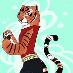 Master Tigress by yelnatsdraws