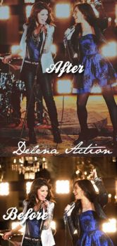 Delena Action by ObsessionCelebrities