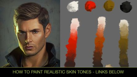 How to Paint Realistic Skin Tones - Video Tutorial by Andantonius