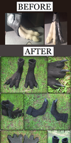 Black Crow Feet - Modification Project by Eternalskyy