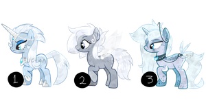 CLOSED - AUCTION #6- Ice Crystal Ponies by FLO-PPYadopts