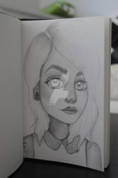 Selfportrait Illustration by TinyCreature