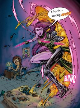 Blink from Age of Apocalypse by snoozzzzzz