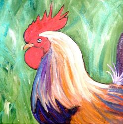 Key West Rooster by KimberlyHullStudio
