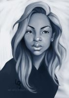 Random black girl portrait by mad-smile