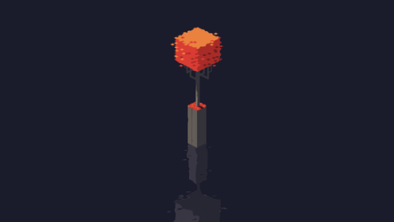 Single Isometric Red Tree by danielgoffin