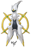 Arceus: Overlooking by Xous54