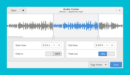 Audio Cutter GTK+3 by aldomann