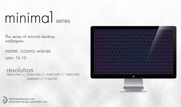 minima1 series - cosmo waves by electroqute-designs