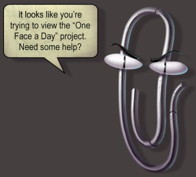 One face a day 215/365. Clippy (microsoft word) by Dylean