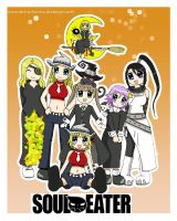Soul Eater Girls by serena-inverse