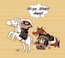 The Chibi Lone Ranger and Tonto by athena-i