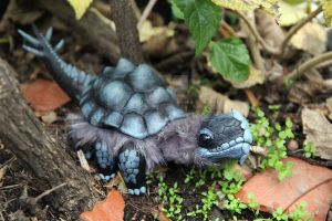 Black tarasque hatchling by AlvaroFuegoFatuo