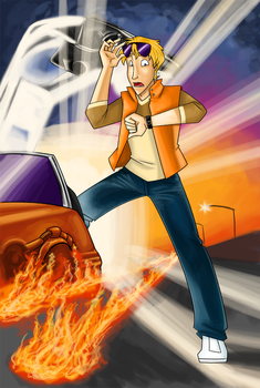 Neil Goes Back To The Future by eightbreeze