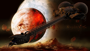 LEXX and a Fire Planet (Giga Res) by Lake333GLD
