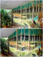 Forest (mural) :) by WormholePaintings