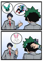 Tenya's Observation (Rabbit Deku). by RaxkiYamato