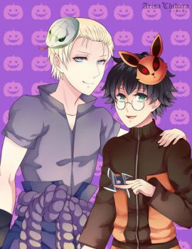 Happy drarry Halloween by arisa-chibara