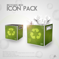 Recycle Box Icon Pack by azad720