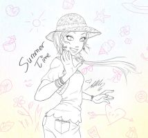 Cornelia Sketch - Summer Time by YummingDoe4
