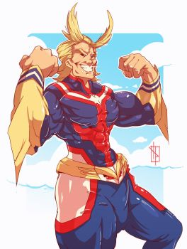 All Might always smile for infinity by Chrotaku