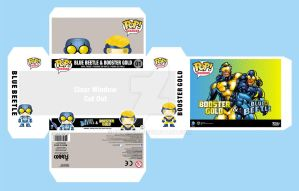 Blue Beetle  Booster Gold 2 Pack Concept Design by fourte3n