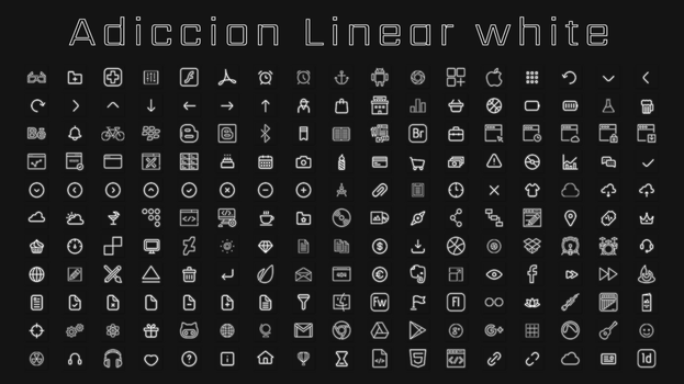 [IconPack] Adiccion linear White by Agelyk