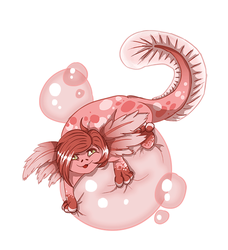 Pinkles the Axolotl by Canis-Solus