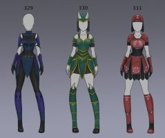 Adoptable: Clothing: 329-331 (CLOSED) by Biological-Solutions