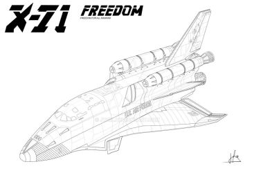 X-71 Space Shuttle by jtgil