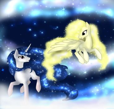 Galaxy Guardian and Star Dust by Sugarcup91