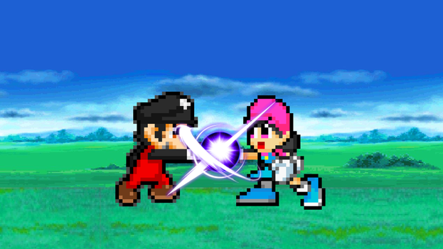 Dexter vs. Kim: Friendly Fight!! by SuperShadeMario