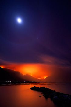 Moonlit Inferno by hougaard