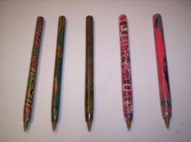 Polymer Clay Pens by Saint-Angel