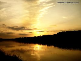 Sunset by the Danube by alexandru-r-ghinea