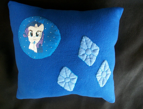 Rarity handmade winter plush pillow by grandmoonma