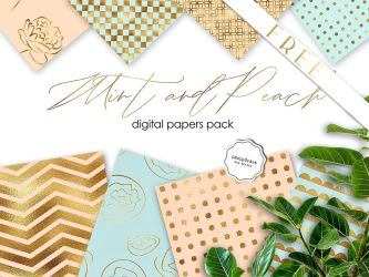 FREE - Mint and Peach Backrounds Pack by iCatchUrDream